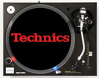 TECHNICS CLASSIC RED ON BLACK - DJ SLIPMAT 1200's or any turntable