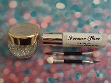 Silver Lip & eye glitter make up set inc. glitter, brush and body glue