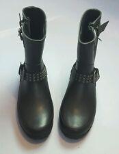 DENIM & SUPPLY WOMEN'S CLEO BLACK RUBBER RAIN BOOTS SIZE US 10B EUR 39B