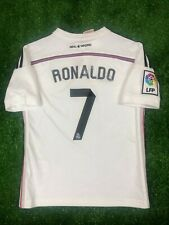 REAL MADRID 2014/2015 RONALDO HOME FOOTBALL SOCCER JERSEY SHIRT BOYS SIZE S