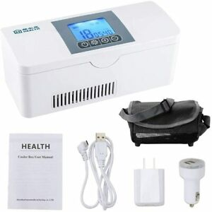 Portable Insulin Refrigerated Box LCD Display Rechargeable Small Refrigerator Mi