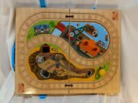 Play and Go Carry Case Thomas Wooden Train Engine Portable Storage Box and Track