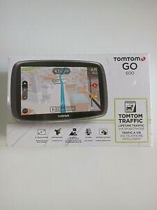 "TomTom GO 600 GPS  Portable 6"" Screen Lifetime US/CANADA/MEX Maps 3D 5FA6.019.01"