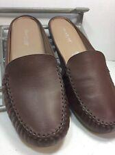 Rose Petals Walking Cradles Slipon Womens Leather Mule Shoes Size 13 Wide Brown