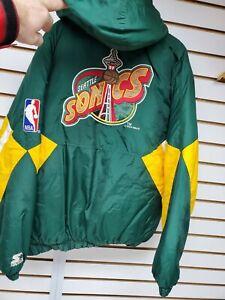 Vintage 1994 Starter NBA Supersonics Pullover Jacket Men's Size L