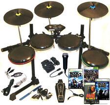 Xbox 360 ION Drum Rocker Pro-Set*3X Pro-Cymbals*RB Mic*MIDI Pro-Adapter*4X Games