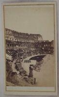 ROMA INTERNO DEL COLOSSEO FOTOGRAFIA STORICA ROME 1860 FRATELLI D'ALESSANDRI