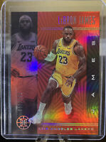 2019-20 Panini Illusions LeBron James Ruby Red Parallel 51/199 LA LAKERS