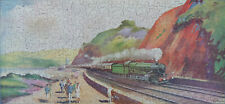 """VINTAGE C1930'S CHAD VALLEY """"GWR"""" WOODEN JIGSAW PUZZLE. THE TORBAY EXPRESS"""