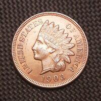 1903 Indian Head Cent/Penny - AU/BU