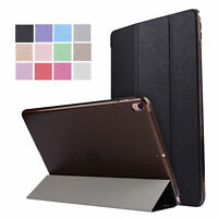 Silk Pattern Folio Smart Cover Stand Leather Case For iPad 2 3 4 Air 2 Mini Pro