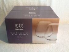 Wegmans Stemless Handblown Wine Glasses Set of 4