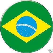 5 x sticker 5cm auto moto velo valise pc portable drapeau Rond Brésil-Brazil