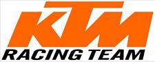"#555 3.75"" KTM Racing Team Decal Sticker Motorcycle Super Duke RC8 Enduro RC 390"