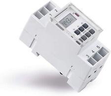 digital Wochen Zeitschaltuhr für Hutschiene Schalttafel Einbau 230V max. 3600W