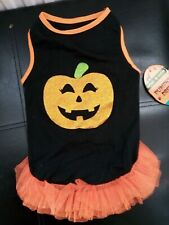 NEW HALLOWEEN DOG PUMPKIN DRESS, SIZE MEDIUM