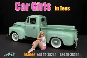 CAR GIRL IN TEE MADEE FIGURE AMERICAN DIORAMA 38339 1/24 scale DIECAST CAR
