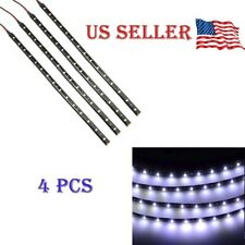 "White 4PCS 12V 12"" 15SMD Flexible LED Strip Light Waterproof For Car Truck Boat"