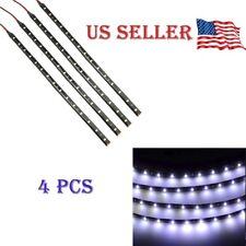 """White 4Pcs 12V 12"""" 15Smd Flexible Led Strip Light Waterproof For Car Truck Boat"""