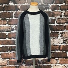 Oleana Sweater Pullover Alpaca Silk Nordic Norway Size Large Cable Knit Grey