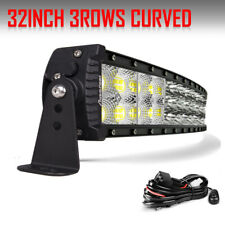 "TRI-Row 32inch 2160W Curved LED Light Bar Spot Flood Truck Offroad VS 30""34""36"""