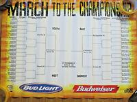"""NCAA Final Four Budweiser Beer Schedule Poster 19"""" x 25"""" Basketball"""