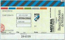 68406 - BIGLIETTO PARTITA CALCIO  Scudetto 1988-89 : INTER / Torino