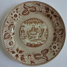 "Tea Drinker Transferware Plate Maestricht Societe Ceramique Holland 7"" Plate"