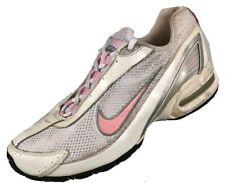 $89 Nike Leather Athletic Running Women's Size 8 / 6.5Y White Pink Air Max Shoes