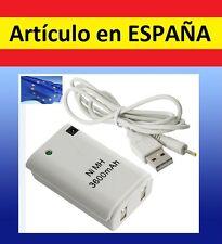 Batería para MANDO XBOX 360 3600mAh cargador por USB Recargable battery PACK