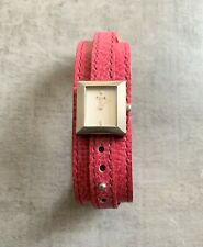 FCUK Ladies Watch With White Face & Pink Wrap Around Leather Strap