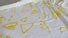 Scampoli di Tessuto in Taffetas bianco con stampa geometrica gialla (Optical)