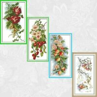 Flowers And Fruits Paintings Aida Canvas 11ct 14ct Needlework Cross Stitch Kits