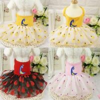 Summer Small Dog Dress Ladies Pet Clothes Vest Puppy Cat Skirt Princess Apparel