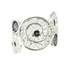 Anello fascia a cerchi stile filigrana sarda in argento 925 con dettagli bruniti