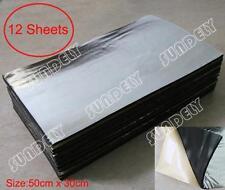 12Pc Glass Fibre Car Engine Bay Bonnet Insulation Noise Hood Sound Proofing Heat