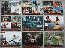 "Set (10) chinese Lobby Card HEROINE OF SHAOLIN 10X14"" Original Movie Poster 1979"