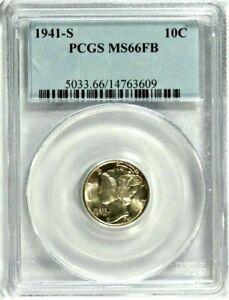 1941-S Mercury Dime PCGS MS 66 FB  #GA1-09
