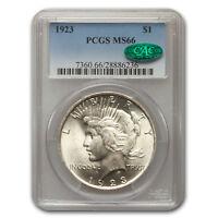 1923 Peace Dollar MS-66 PCGS CAC - SKU#78896