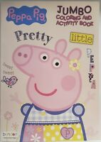 Peppa Pig Jumbo Coloring & Activity Book PRETTY LITTLE PEPPA 2020 (BRAND NEW)