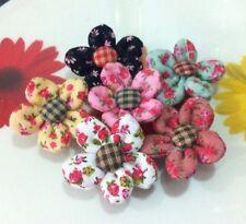 ุ6 FLOWER FABRIC D.I.Y. HAND CRAFT SEWING DECORATIVE CLOTHING HAT YARN KNITTING