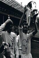 Signed Allan Clarke & Paul Reaney Leeds United Autograph Photo 1972 FA Cup Final