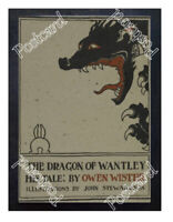 Historic The Dragon Of Wantley Book 1903 Advertising Postcard