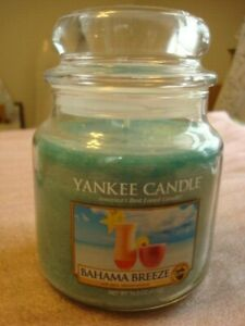 YANKEE CANDLE BAHAMA BREEZE JAR  CANDLE  14.5OZ   ~NEW~