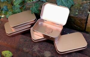Rectangle Metal Storage Tin Hinged Lid 50ml *Crafts *NEW* White Black Rose Gold
