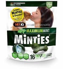 VetIQ Minties Dental Bone Treats for Dogs 5-39 pounds 16 count Tiny/Small 6.4 oz