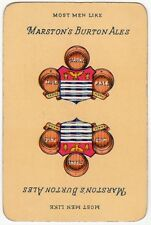 Playing Cards 1 Swap Card - Vintage MARSTON'S BURTON ALES Beer Mild Strong Pale