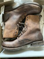 FRYE ROGAN TALL LACE UP BOOT #87983 COGNAC US 12 NIB DEADSTOCK
