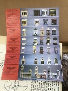 Vintage CARLSON'S  our town KIT Dollhouse Miniature Wood new in box 8502