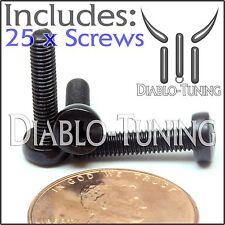 M3 x 14mm - Qty 25 - Phillips Pan Head Machine Screws - DIN 7985 A - Black Steel